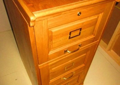 Oak File File Cabinet