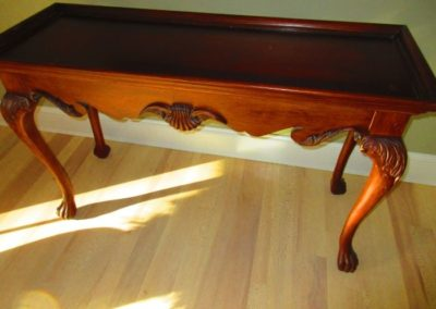 Claw Foot Console Table