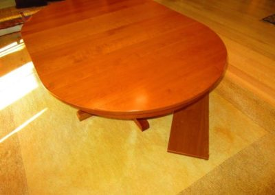 Custom Made Cherry Dinning Table in The Style of Mission Furniture ( showing leaves)