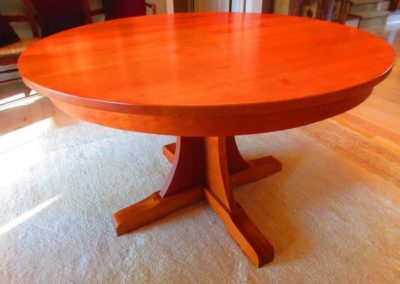 Custom Made Cherry Dinning Table in The Style of Mission Furniture