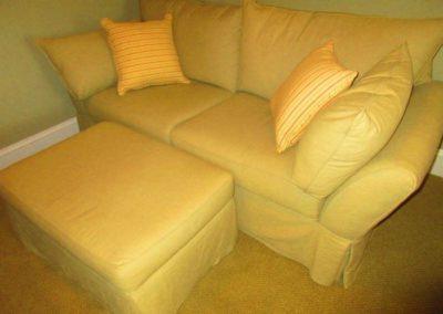 Slip Cover Sofa and Ottoman