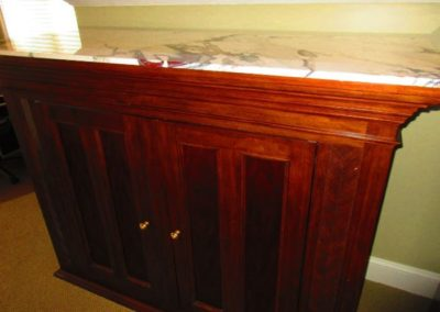 Large Cabinet with Custom Marble Top