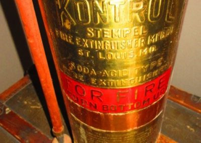 Detail of Brass Soda Fire Extinguisher