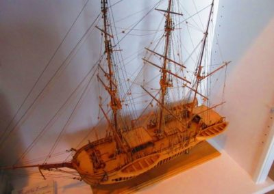Large Hand Constructed Model Ship