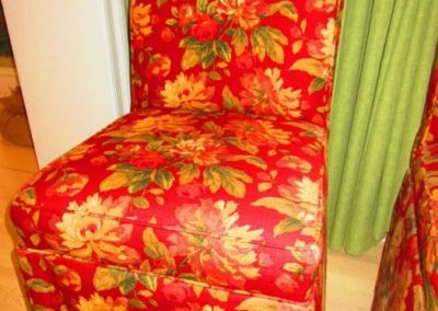 Detail of Chintz Dining Chair