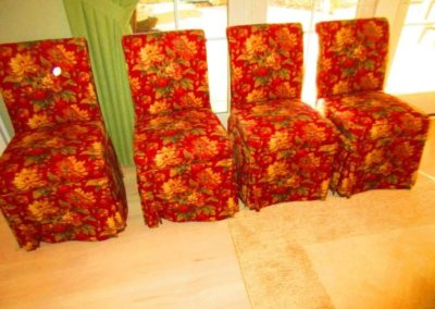 Group of Chintz Dining Chairs