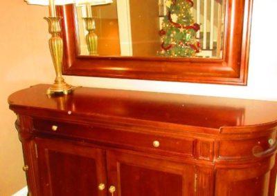 Martha Stewart Sideboard & Mirror for Bernhardt